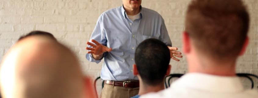Jimmy Carrane teaching
